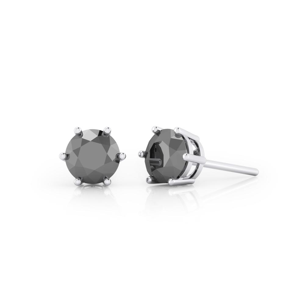 Pendientes de plata con diamantes negros