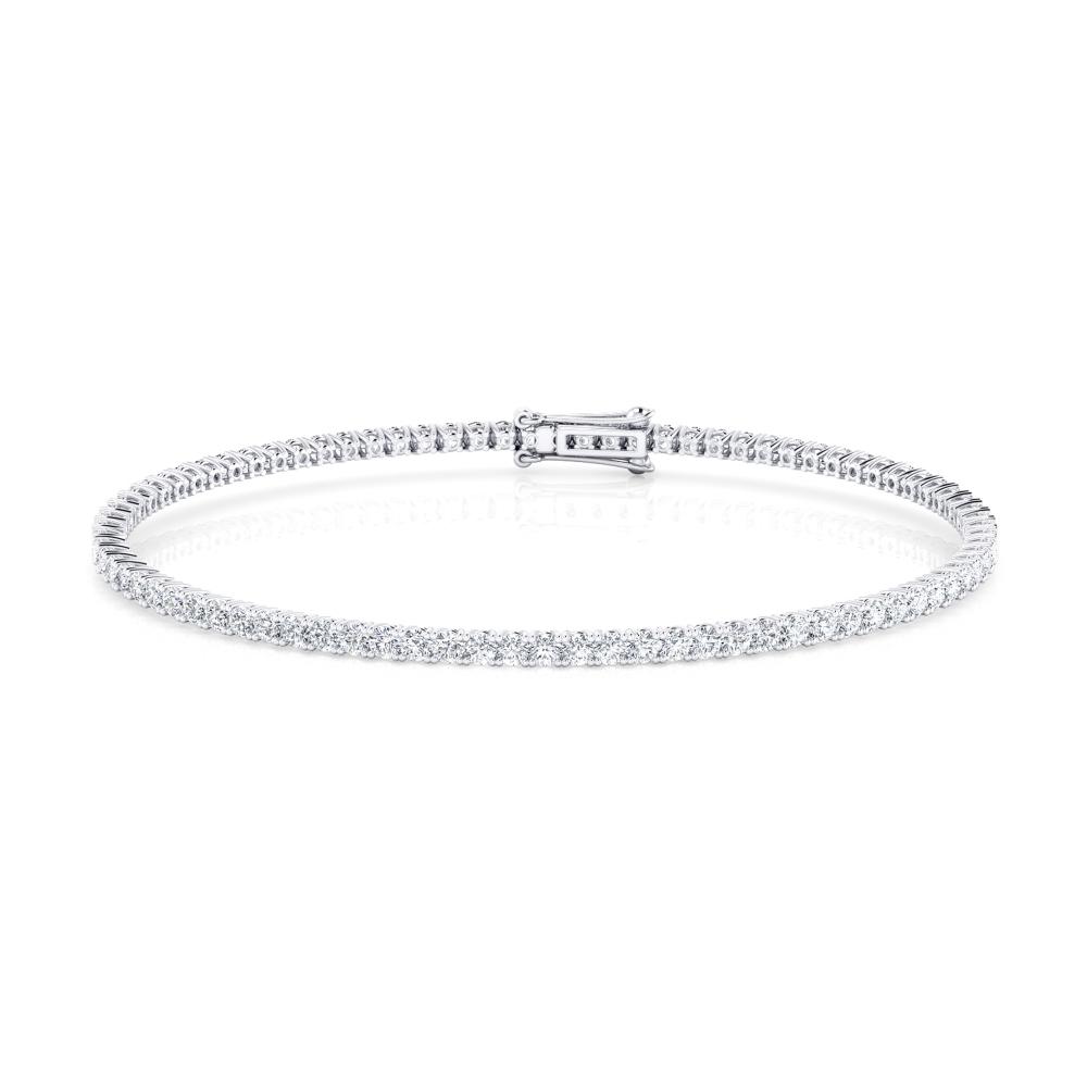 Pulsera riviere de diamantes de oro blanco 18kt con diamantes de 0,04ct