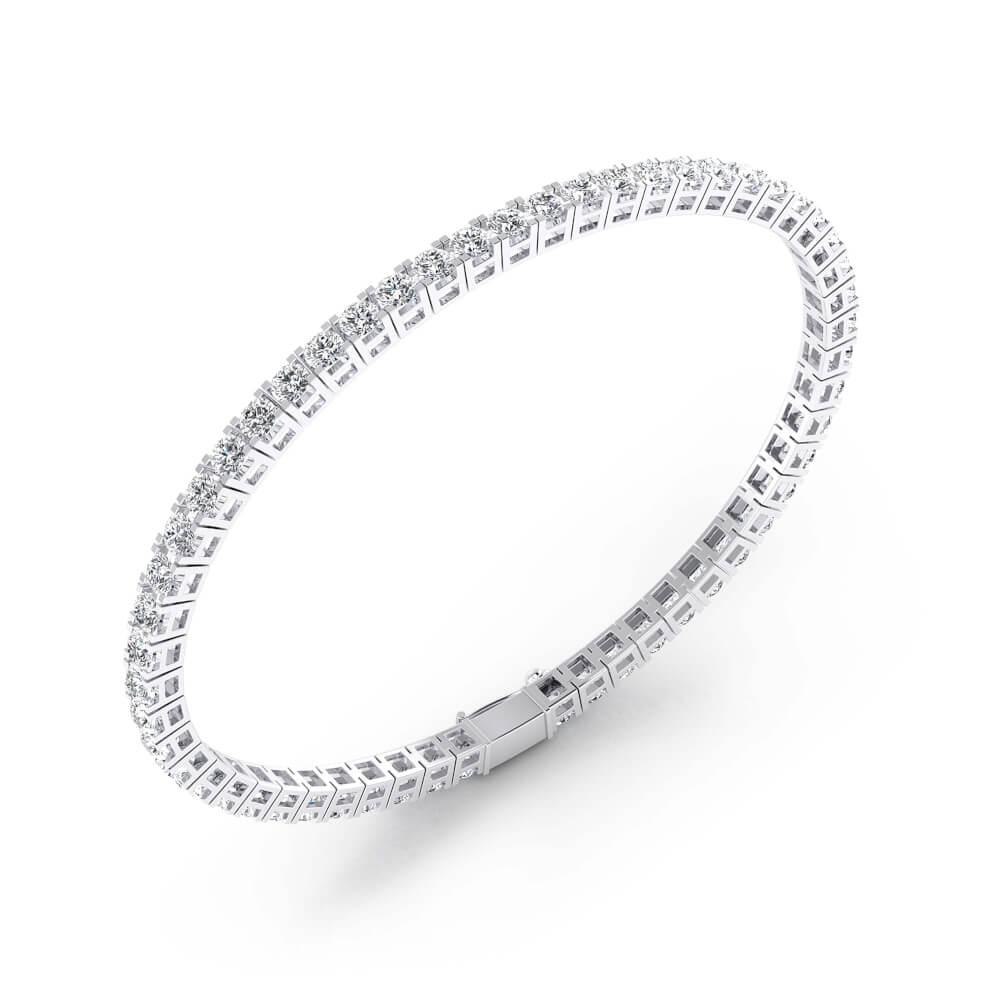 Pulsera riviere de diamantes de oro blanco 18 k con diamantes de 0,07ct