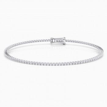 1a1726fc5a51 Pulsera riviere de diamantes de oro blanco 18kt con diamantes de 0