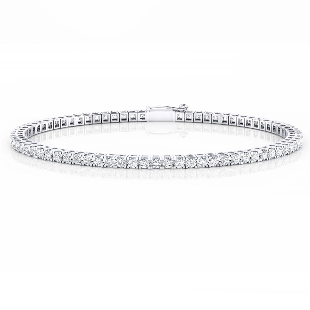 Pulsera riviere de diamantes oro blanco 18k con diamantes de 0,030ct