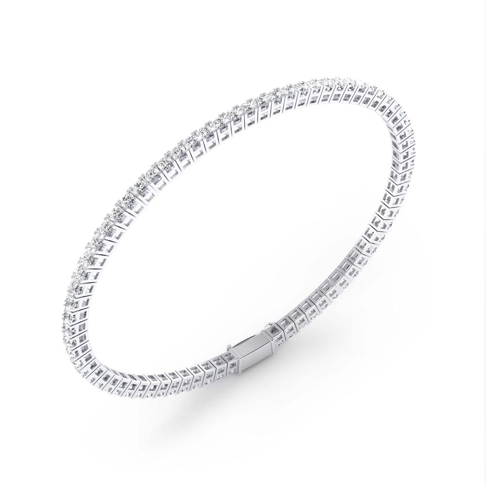 Pulsera riviere de diamantes oro blanco 18k con diamantes de 0,03ct
