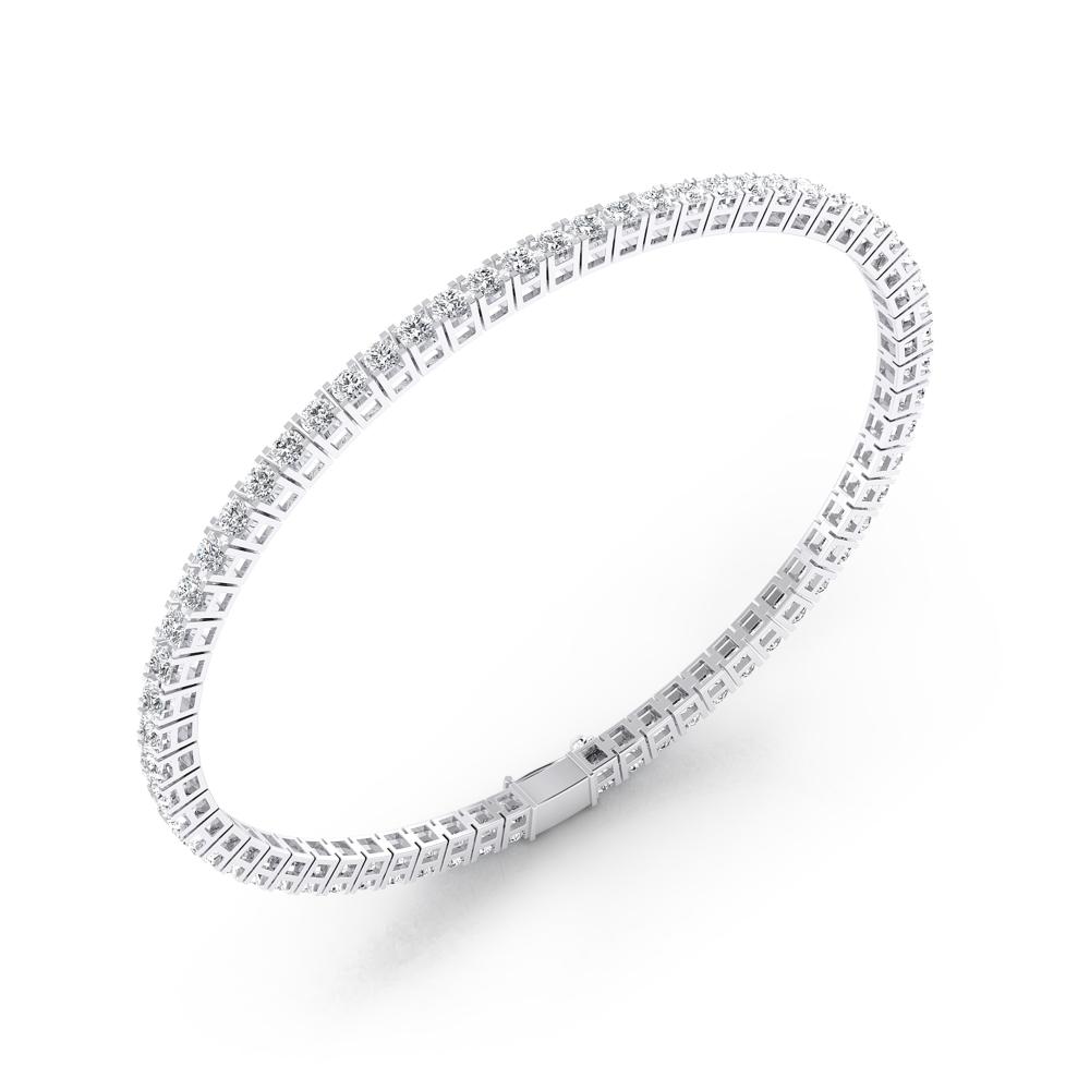 Pulsera riviere de diamantes oro blanco 18k con diamantes de 0,05ct
