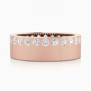 Alianzas oro rosa y diamantes