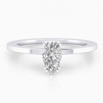 Anillos de compromiso oro blanco y diamantes precios