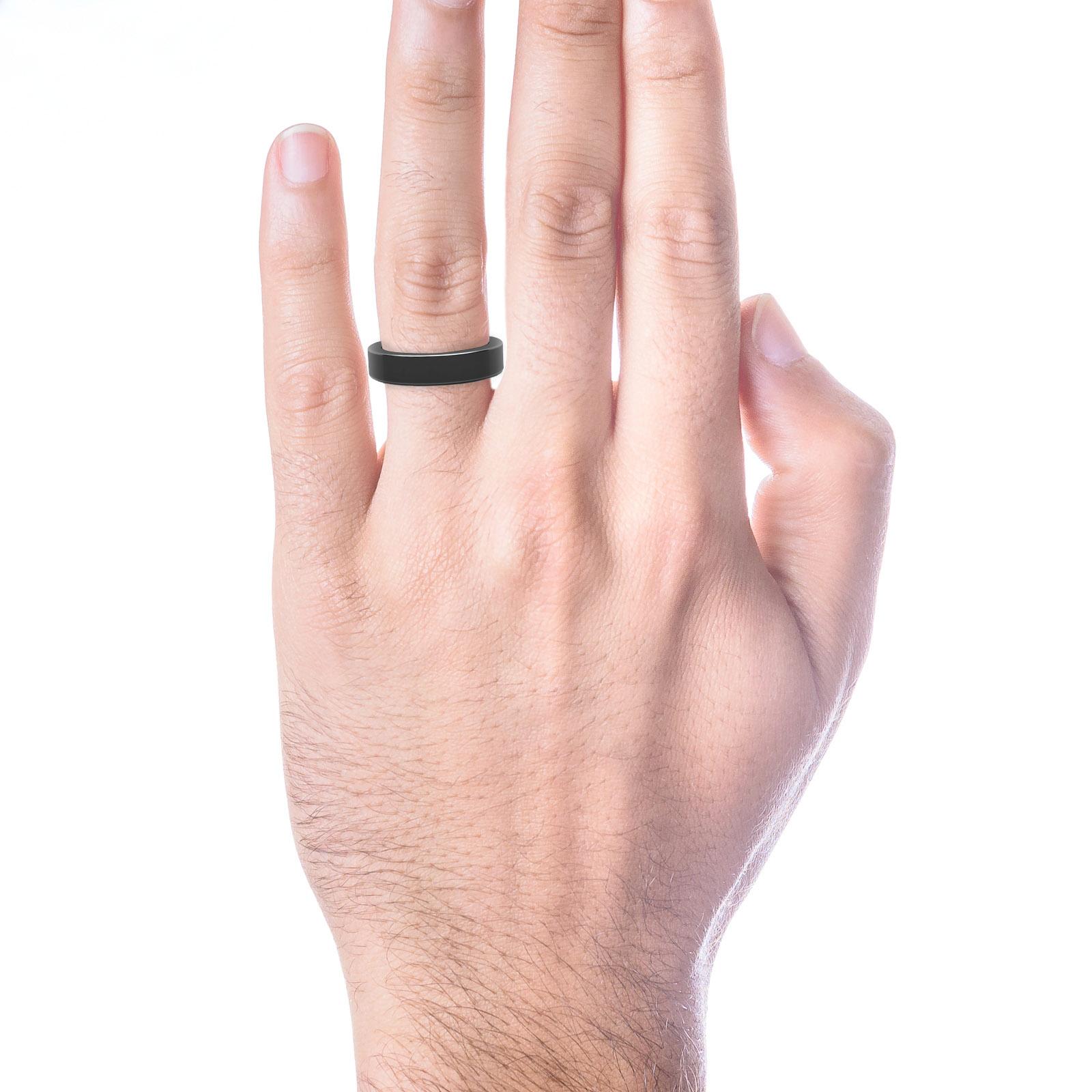Aliança de Casament Home or negro 18k