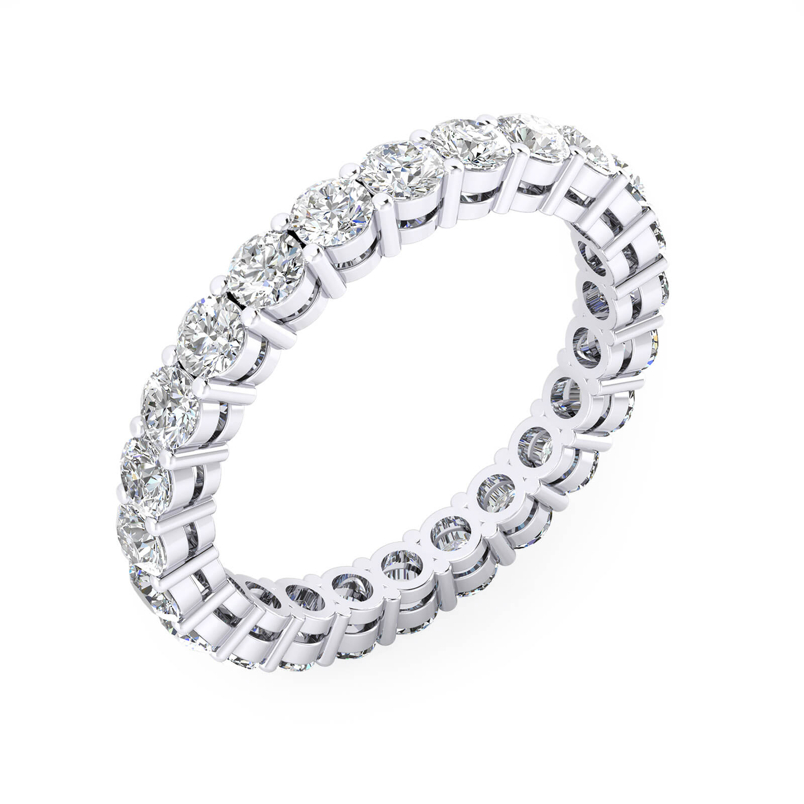 Aliances de casament or blanc 18k - Tria la mida dels diamants