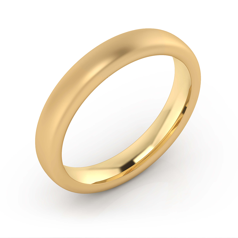 Alianza de boda de oro amarillo mate para hombre