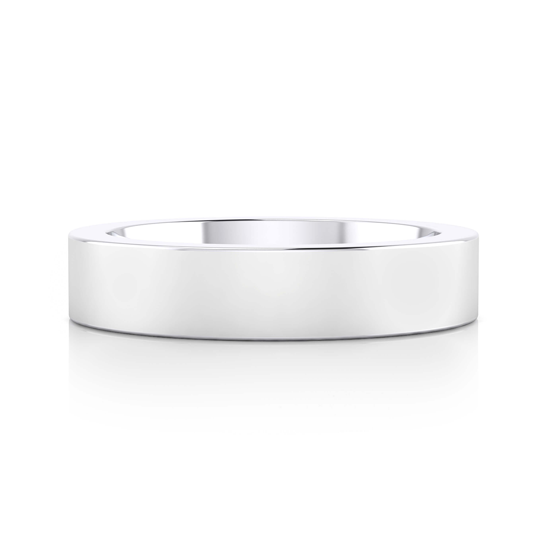 Men's Wedding Ring 18k white gold