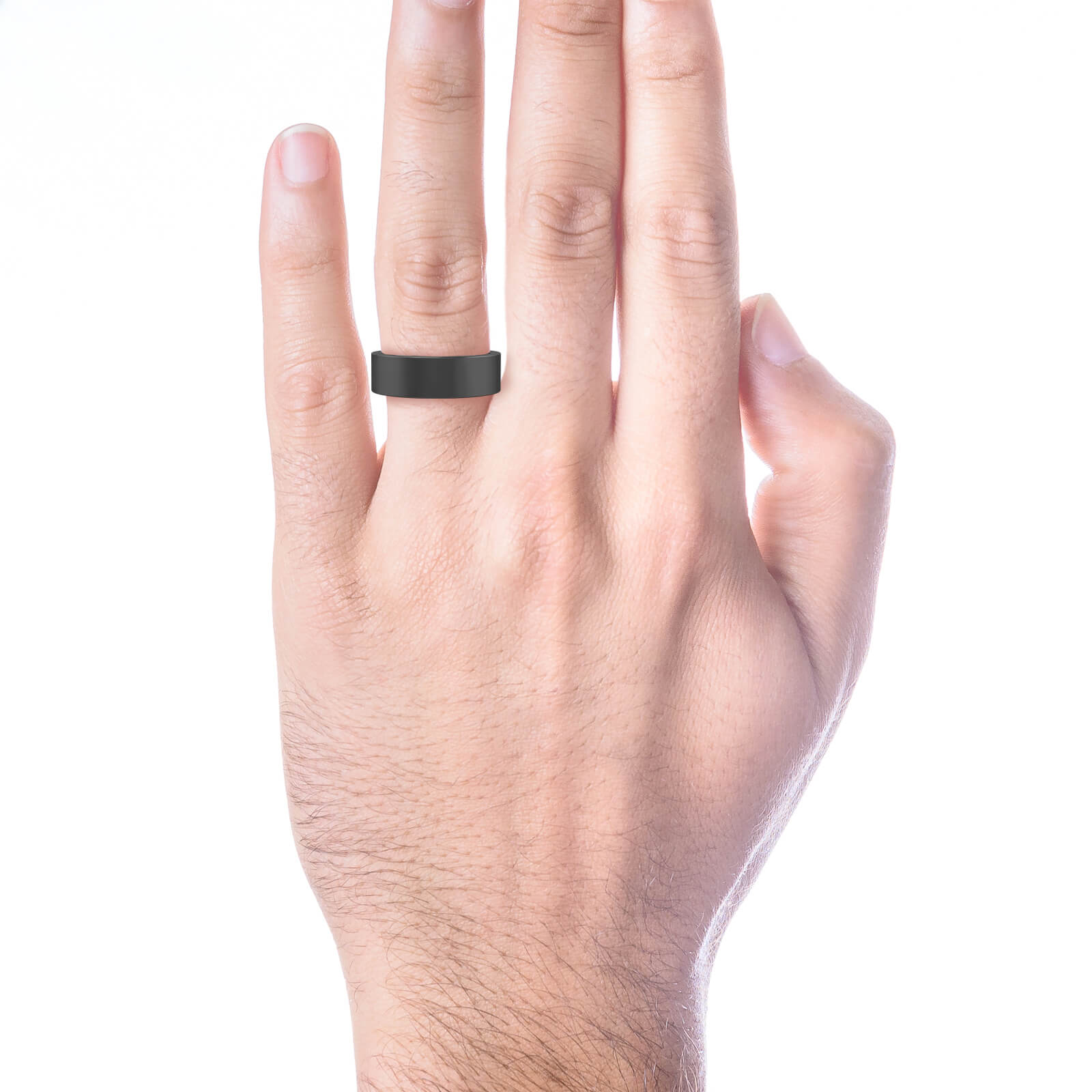 Men's Wedding Ring 18k black gold. (- 15% )