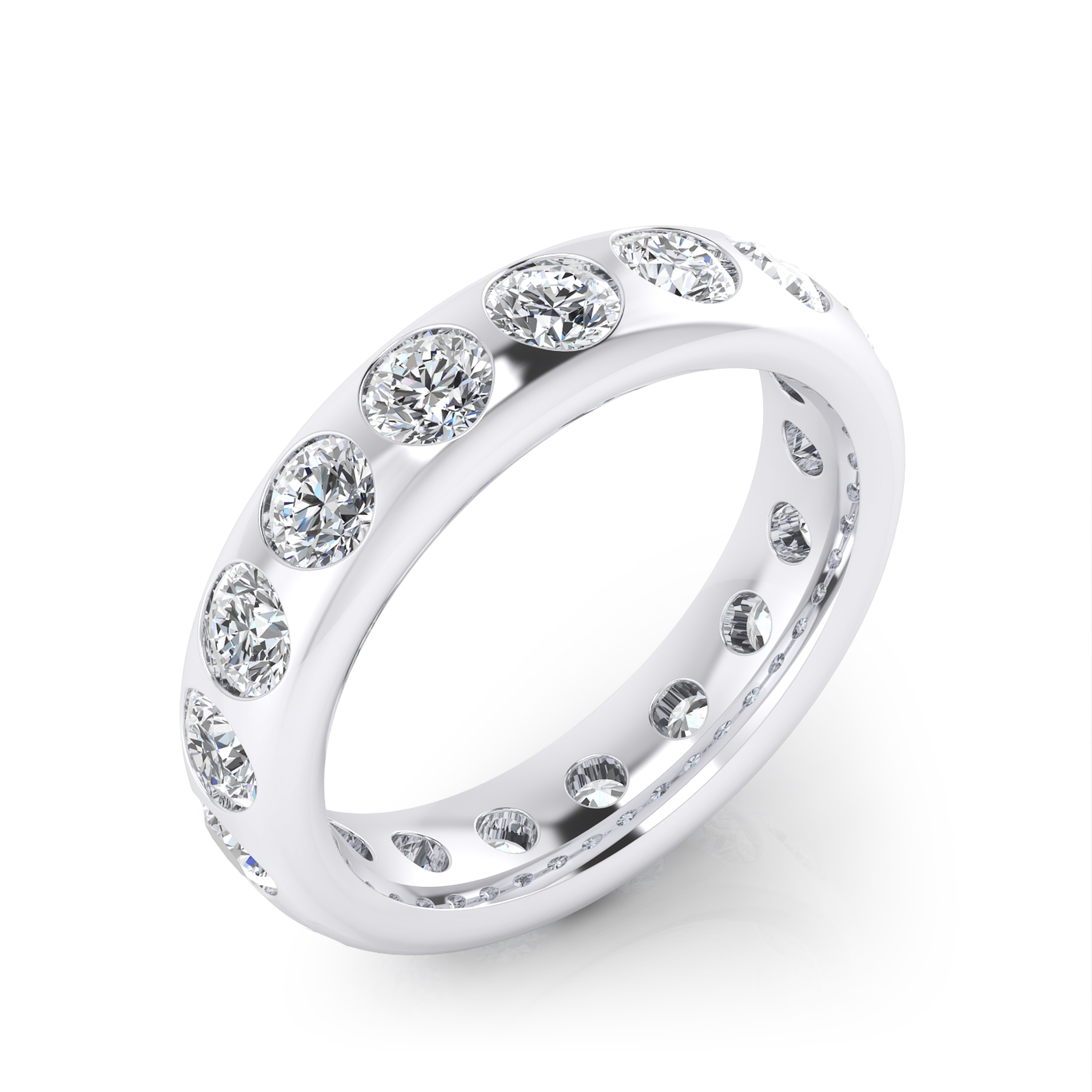 Stunning 18k white gold engagement ring