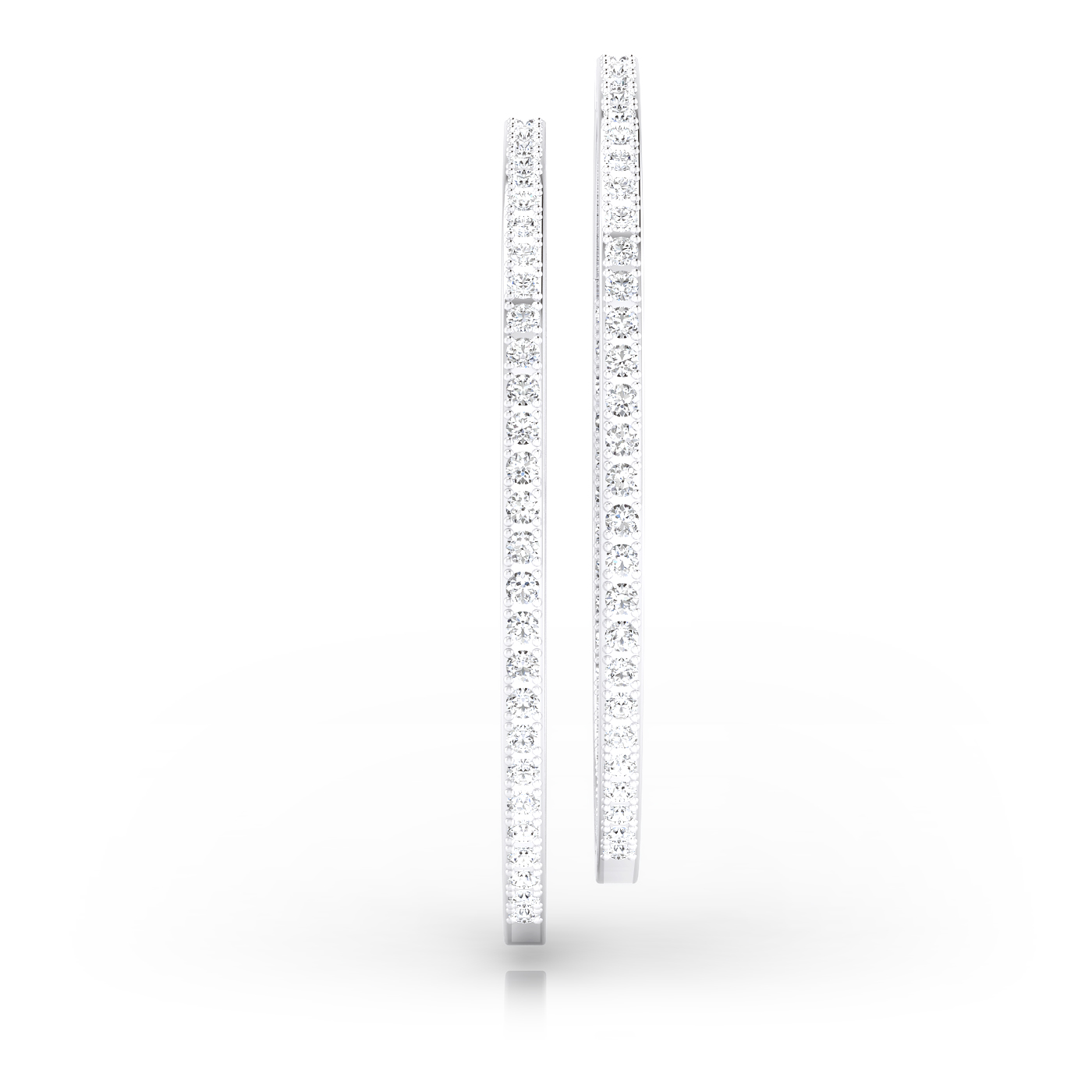 Criolles de diamants or blanc 18kt