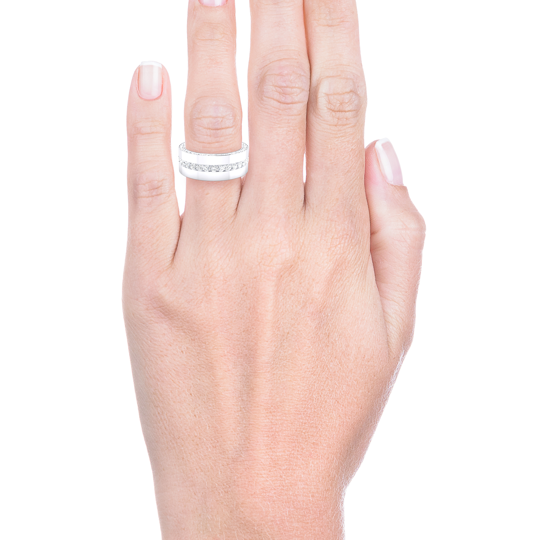 Engagement Rings 18k white gold 113 brilliant cut diamond