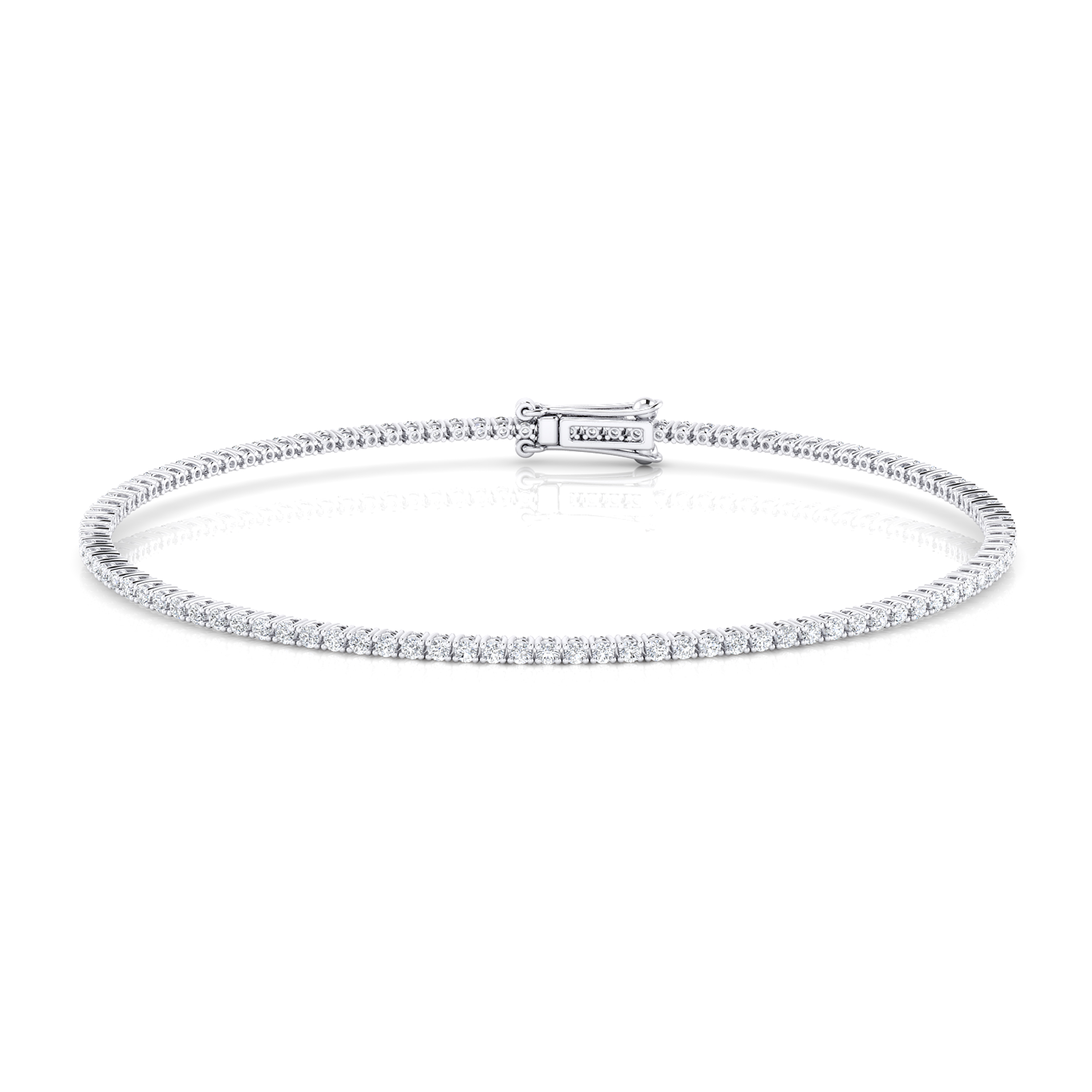 Diamond bracelet, 18k white gold. (brilliant cut diamonds of 0,01ct)