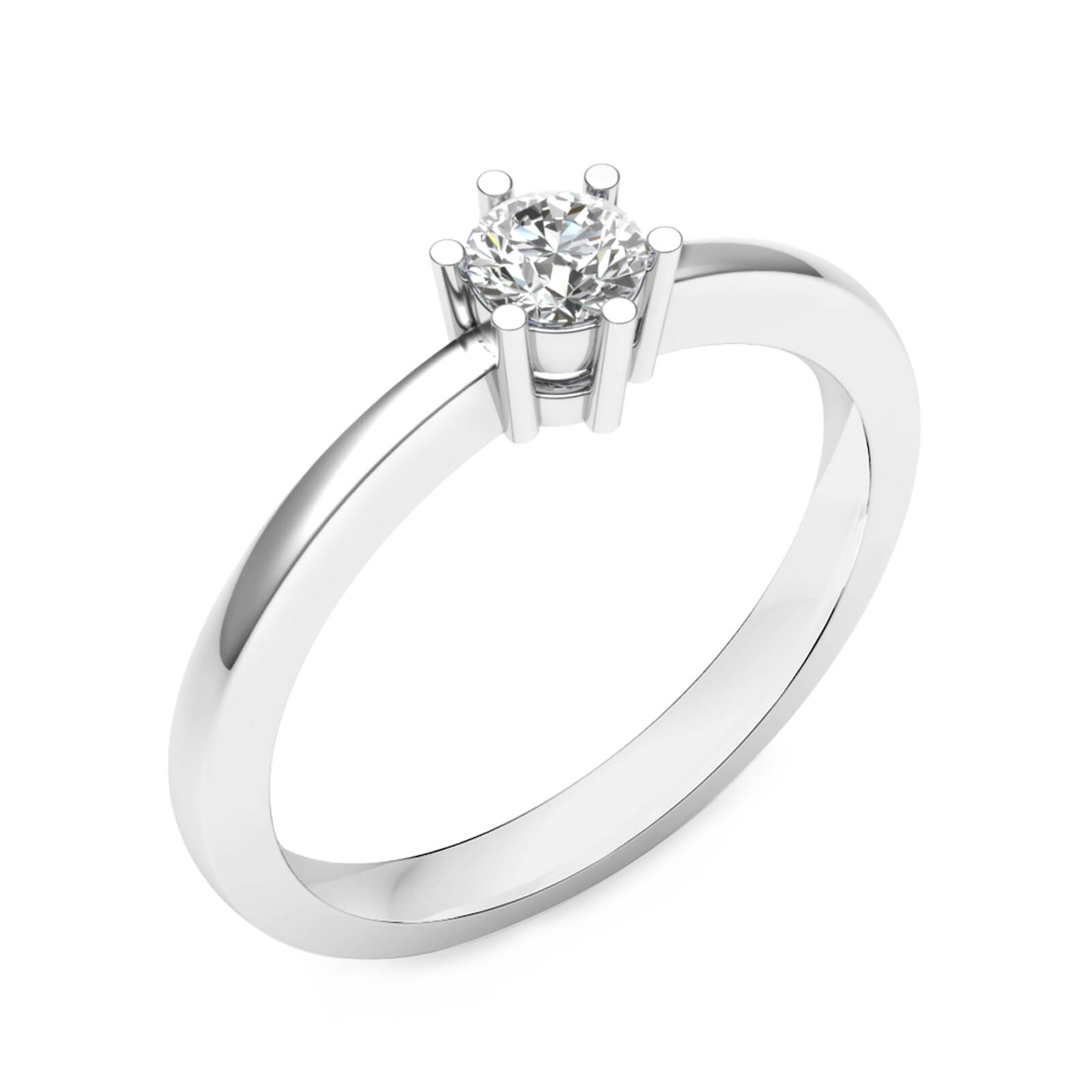 Engagement Rings white gold with a central diamond