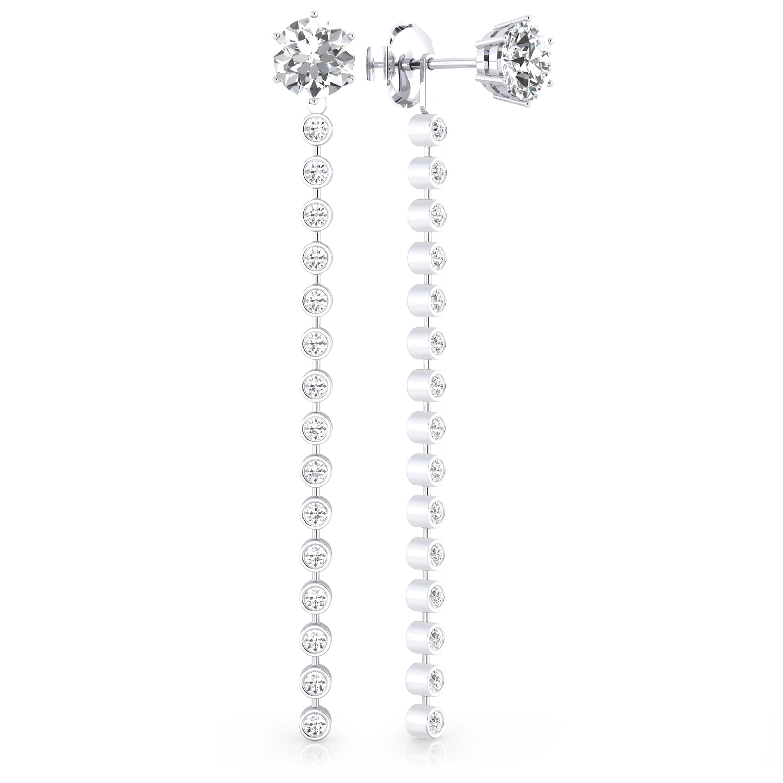 Earrings 18k white gold with 32 diamonds