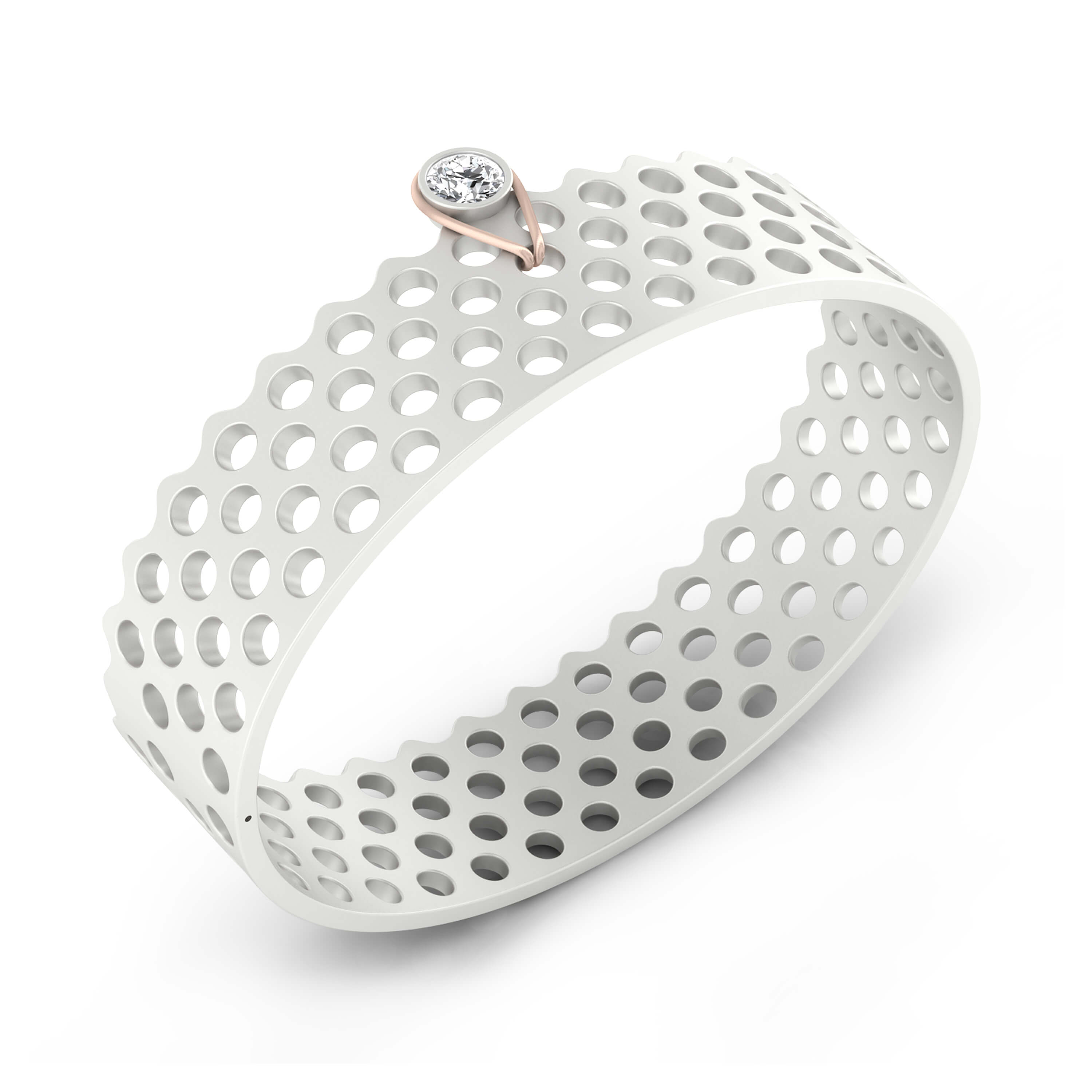Bracelets 18k white gold with 1 diamond