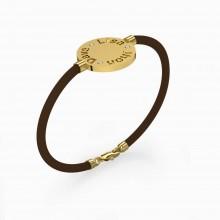 Bracelets 18k yellow gold with 3 brilliant cut diamond