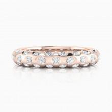 Anillos de compromiso en oro rosa de 18k con 60 diamantes