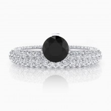 Engagement Rings 143 diamonds magnificent black diamond