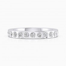Anells de Compromis or blanc 18k amb 14 diamants