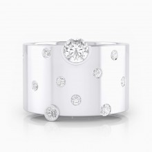 Anell de diamants or blanc 18k amb 14 diamants
