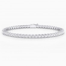 Diamond bracelet, 18k white gold. (diamonds of 0,07ct)