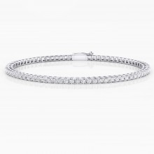 Diamond bracelet, 18k white gold. (diamonds of 0,03ct)