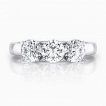 Rings 18k white gold 3 brilliant cut diamond