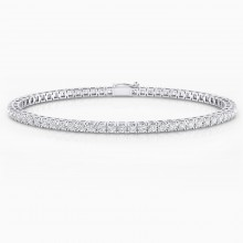 Diamond bracelet, 18k white gold. (diamonds of 0,05ct)