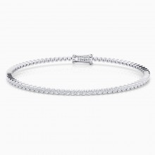 Riviere de diamants d'or blanc de 18kt amb diamants de 0,017qt - montura en xató