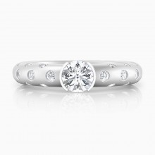 Engagement Rings 18k white gold 56 brilliant cut diamond