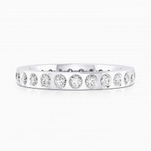 Engagement Rings 18k white gold 22 brilliant cut diamond