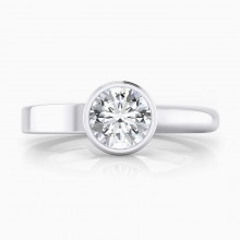 Engagement Rings 18k white gold 1 brilliant cut diamond